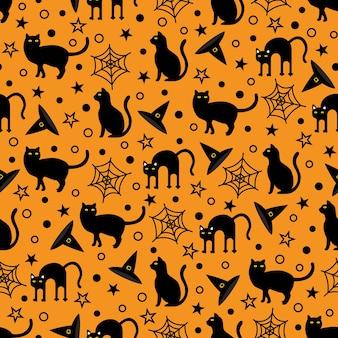 Seamless halloween festival vector pattern