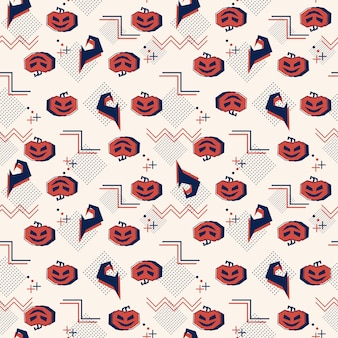 Seamless halloween pattern with geometric abstract