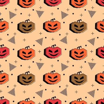 Seamless halloween pattern with hipster multicolor