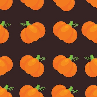 Seamless halloween pattern with pumkin