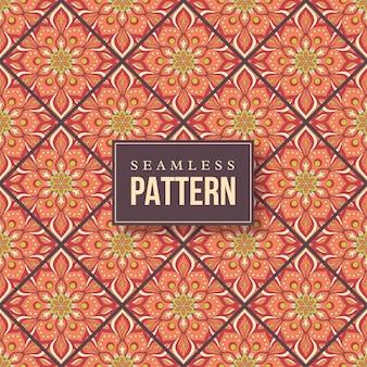 Бесшовные рисованной мандалы. винтажные элементы в восточном стиле.