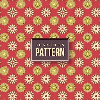 원활한 손으로 그린 된 만다라 패턴입니다. 오리엔탈 스타일의 빈티지 요소.