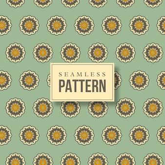 シームレスな手描きの曼荼羅パターン。オリエンタルスタイルのヴィンテージ要素。