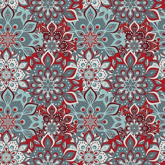 Seamless hand drawn mandala seamless pattern.