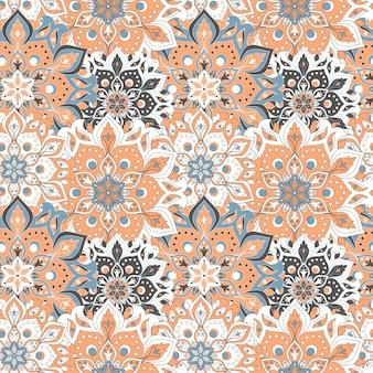 원활한 손으로 그려진 된 만다라 완벽 한 패턴입니다.