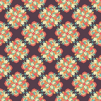 Seamless hand drawn pattern with ethnic decorative tribal element