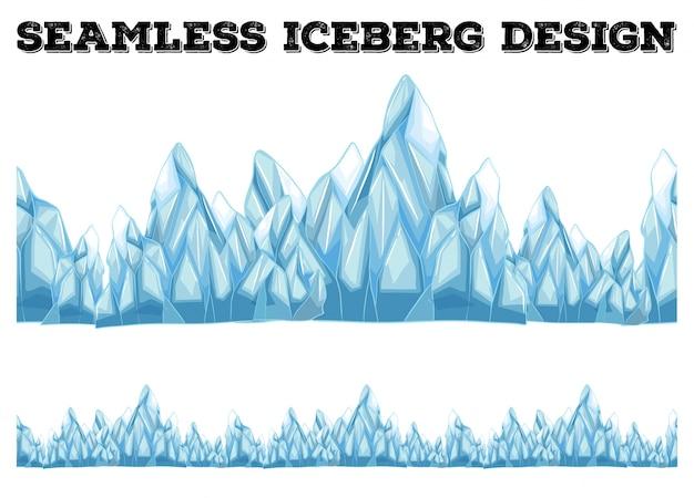 高ピークのシームレスな氷山デザイン
