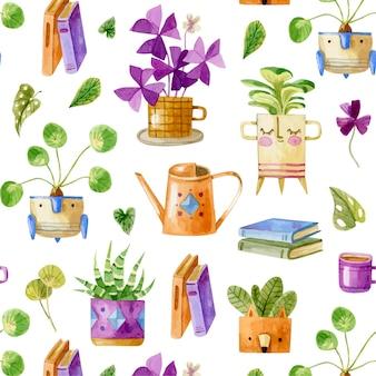 원활한 실내 식물 patern 아늑한 집 패턴