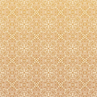 イスラムのシームレスなパターンと花の背景