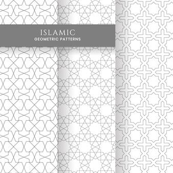 Коллекция бесшовных исламских арабских геометрических марокканских фонов