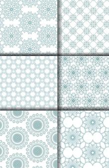 Seamless islamic arabic  patterns backgrounds