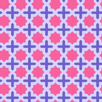 シームレスなイスラムの幾何学的な複雑なパターンベクトル