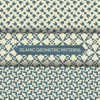 Seamless islamic geometric patterns collection