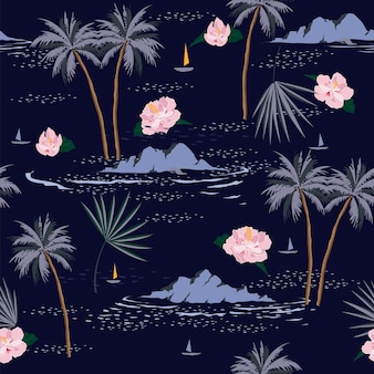 シームレス島パターンベクトル