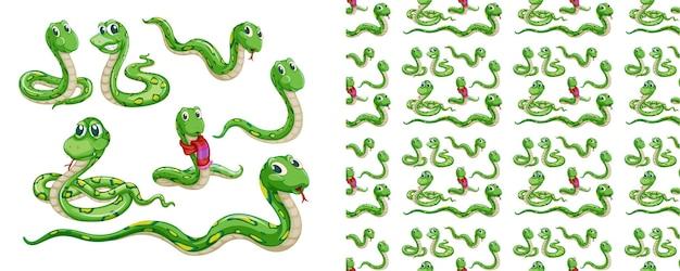 Cartone animato modello animale senza soluzione di continuità e isolato
