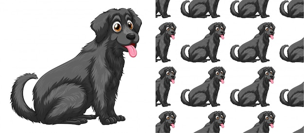 Seamless and isolated dog pattern cartoon