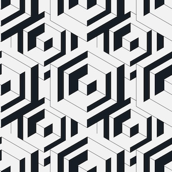 Seamless isometric pattern.