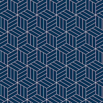 Seamless japanese-inspired geometric pattern