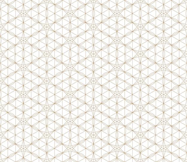 황금에서 원활한 일본 패턴 shoji kumiko.