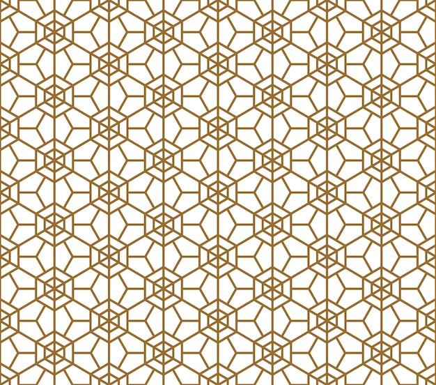 Seamless japanese pattern shoji kumiko in light brown color.