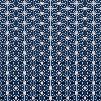 Seamless japanese pattern with hemp leaf motif