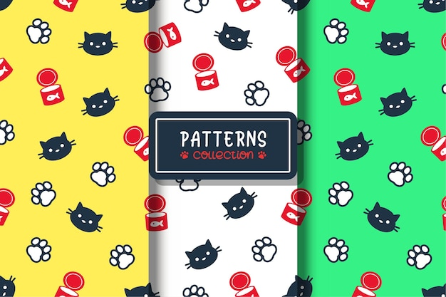 Seamless kitty pattern