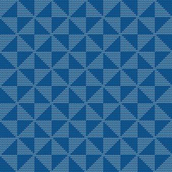 원활한 니트 기하학적 패턴, 벡터 일러스트 레이 션
