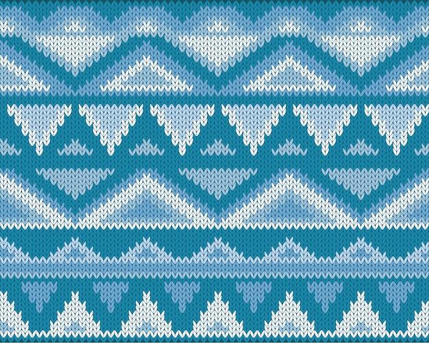 Seamless knitted jacquard geometric pattern.