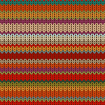 Seamless knitted pattern of colorful bright stripes.