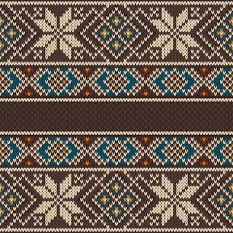 원활한 니트 패턴. 민족 장식