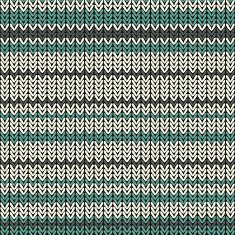 カラーストライプのシームレスニットパターン。