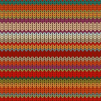 다채로운 밝은 줄무늬의 원활한 니트 패턴입니다.
