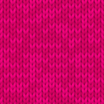 Бесшовные трикотажные модели. шерстяная ткань. розовый вязаный узор.