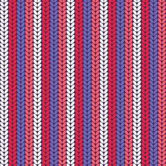Seamless knitted pattern.
