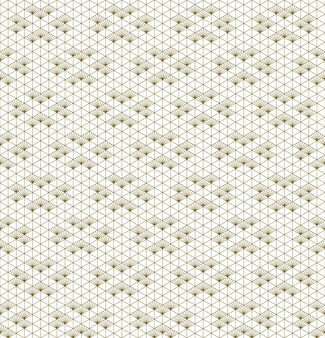 Seamless kumiko pattern in golden with average thickness lines
