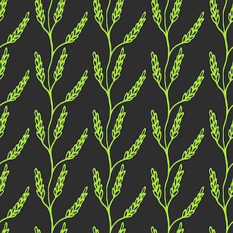 Бесшовные лавр филиал фон. симпатичные повторения пшеницы вектор фона. фон пшеницы.