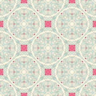 Seamless leaf blue pattern