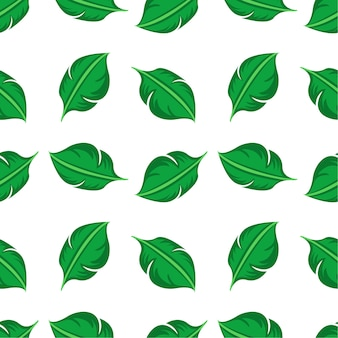 Бесшовный фон с листьями
