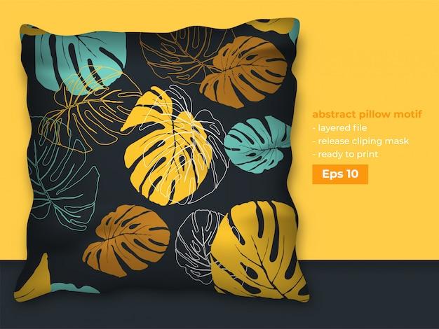 Бесшовные листья шаблон с реалистичной подушкой