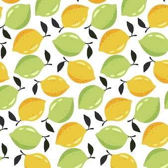 Бесшовные лимон, лайм шаблон