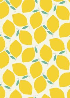 원활한 레몬 패턴 파스텔 배경
