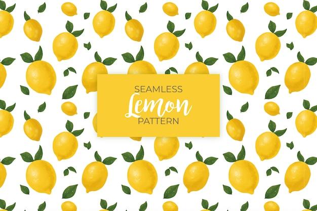 Бесшовный образец лимона