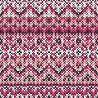 Seamless lilac ornament on knitted texture