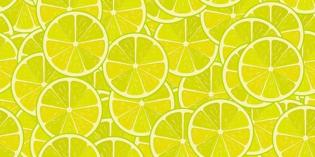 Бесшовный узор вектор лайма или лимона. минималистичный пищевой фон. повторяемая текстура витаминов