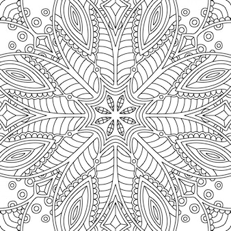 Seamless linear abstract pattern for coloring book