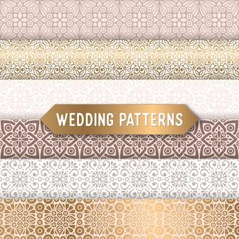 Seamless luxury wedding patterns
