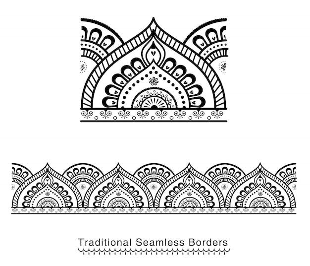 Seamless mandala border