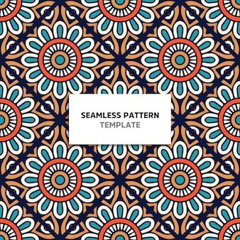 Seamless mandala color pattern