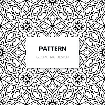 Seamless mandala islamic pattern. vintage elements