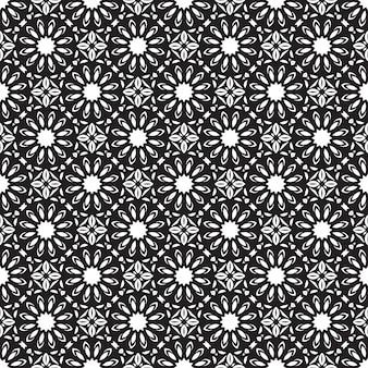 シームレスなマンダラパターン。オリエンタルスタイルのヴィンテージの要素。